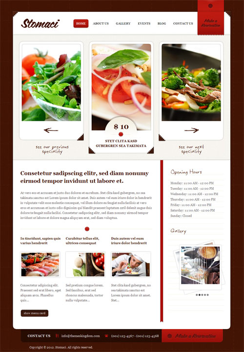 Restaurant Cafe WordPress Theme