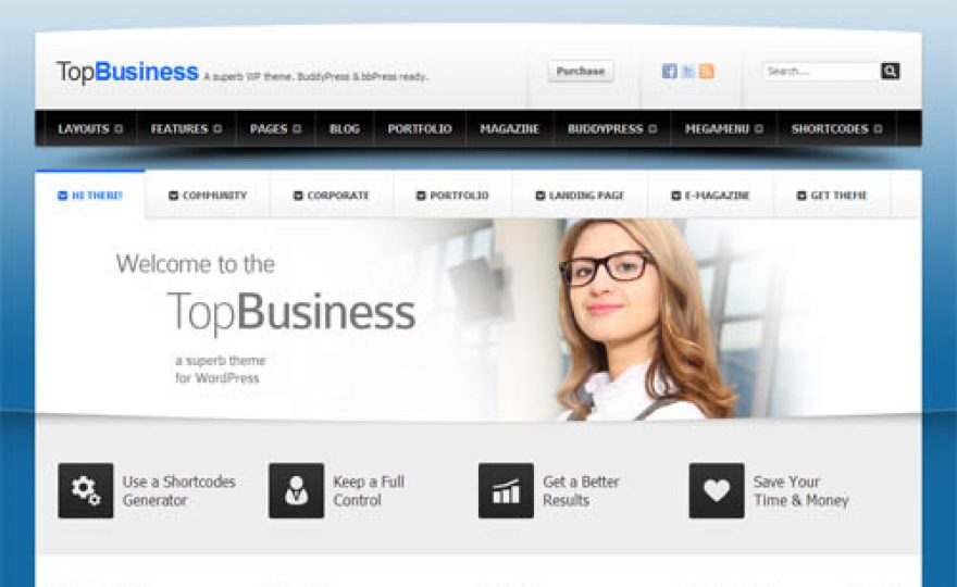 Top Business – An Advanced WordPress Theme With BuddyPress Compatibility