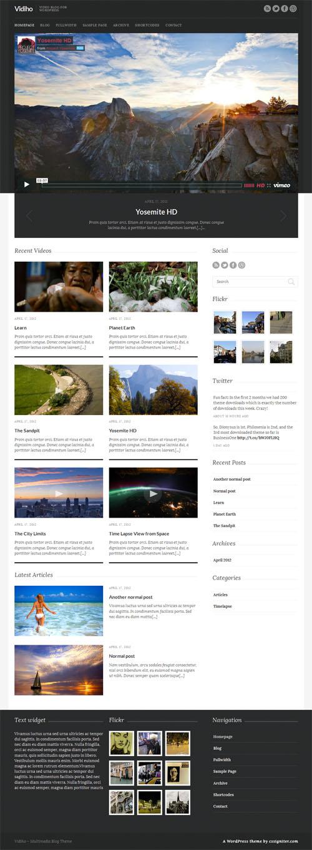 Vidiho Video Blog WordPress Theme