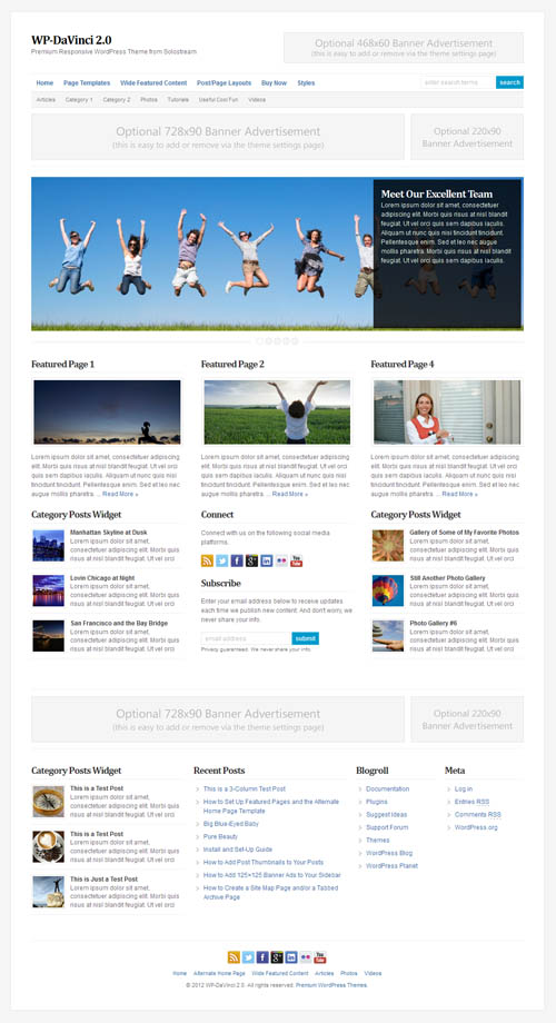 WP DaVinci WordPress Theme