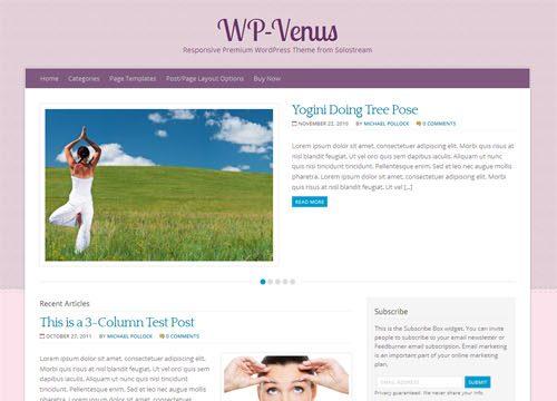 Girly Blog Premium WordPress Theme