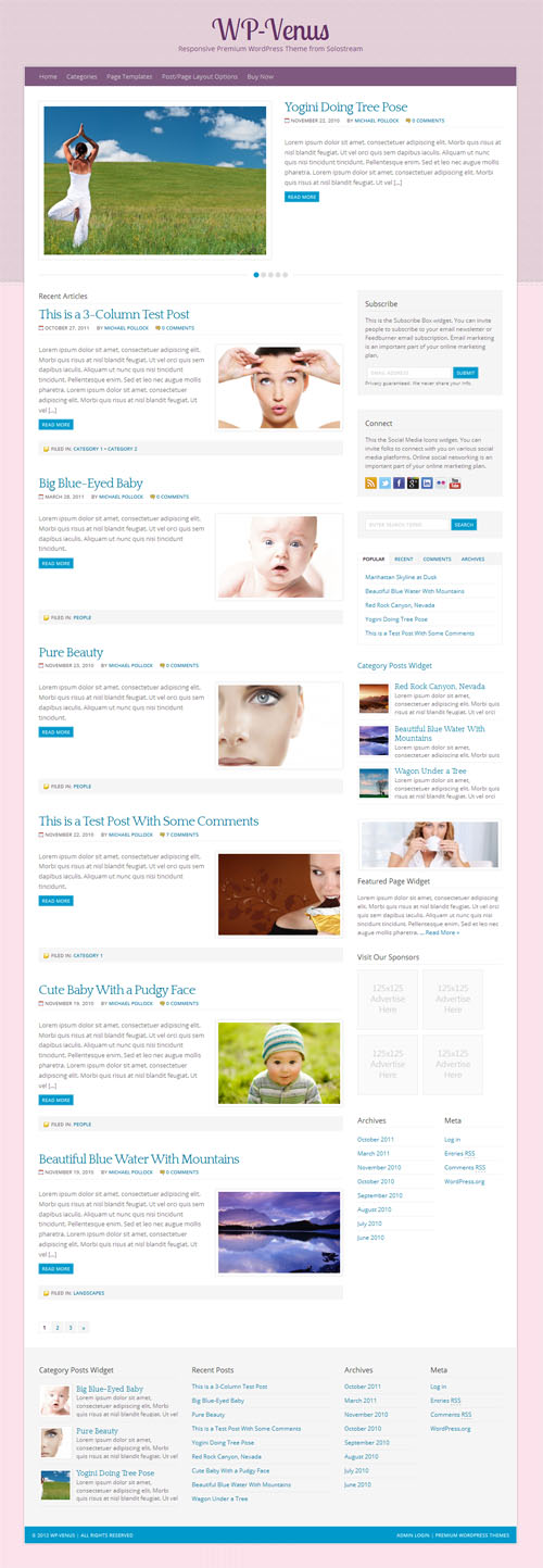 WP Venus wordpress theme