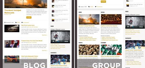 homepage layouts