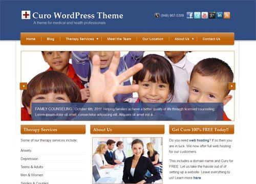 Curo Medical and Health WordPress Theme