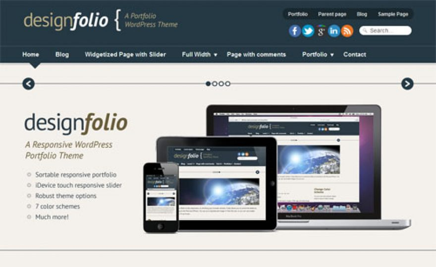 Design Folio Premium WordPress Theme