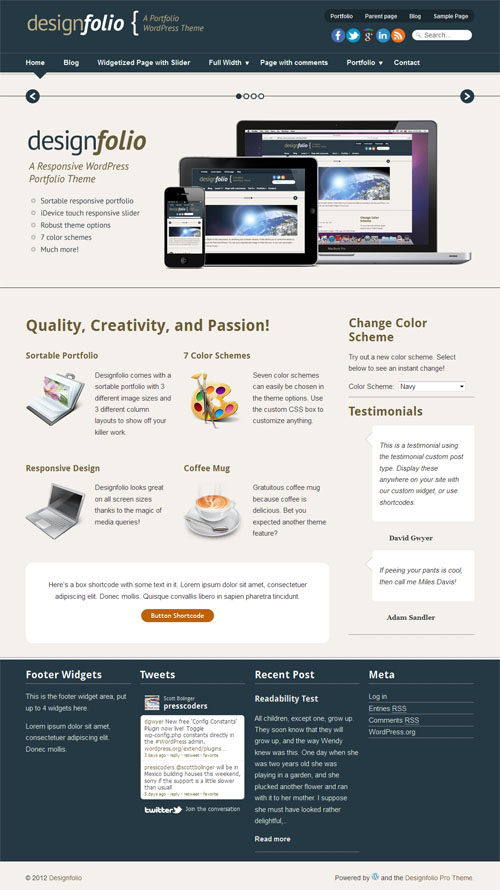 Design Folio Premium WordPress Theme