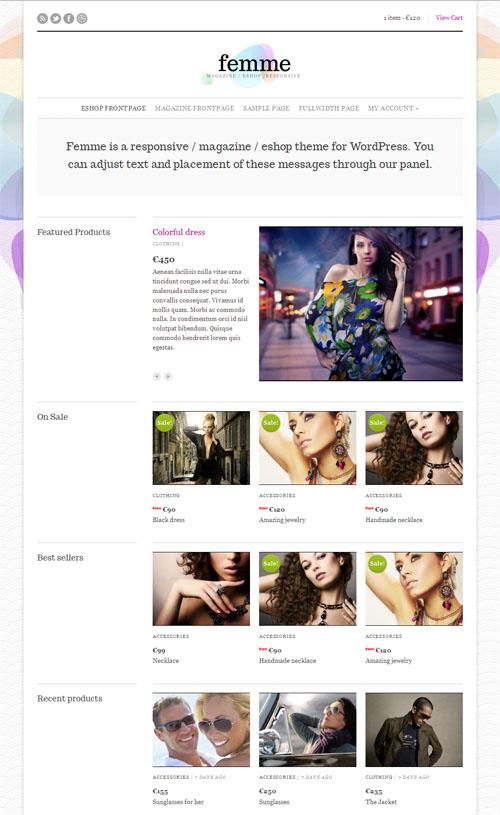 Femme wordpress theme