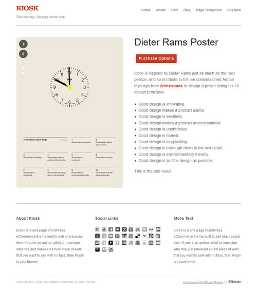 Single Product Ecommerce WordPress Theme