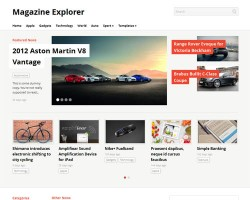 Magazine Explorer – A Responsive Magazine WordPress Theme