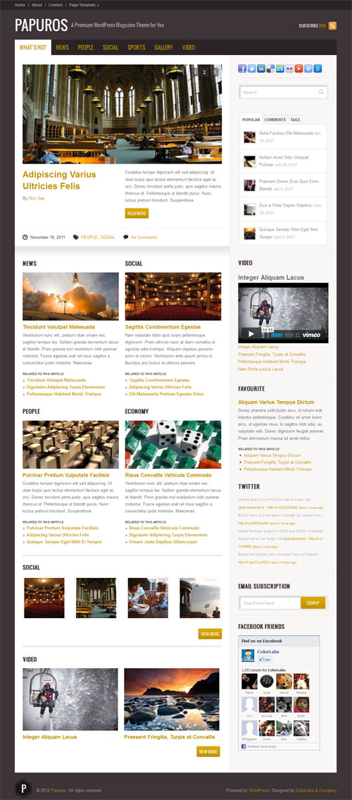 Papuros WordPress Magazine Theme