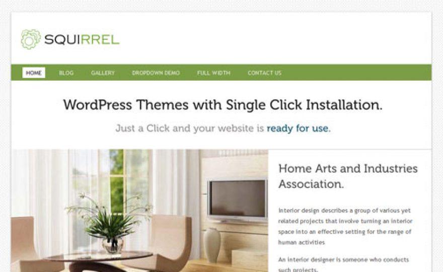 Squirrel – A Fresh and Clean, Multipurpose Premium WordPress Theme