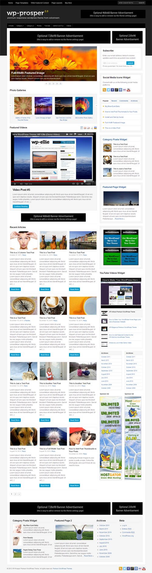 WP Prosper 2.0 Premium WordPress Theme