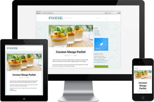 responsive food blog