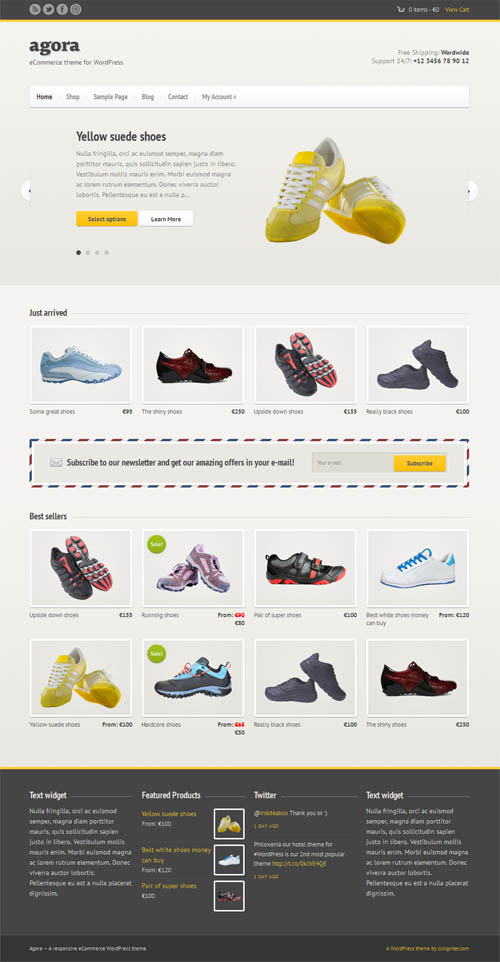 Agora ecommerce wordpress theme