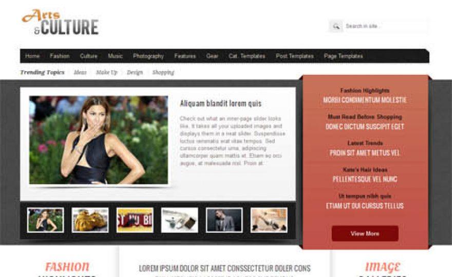 Arts and Culture Magazine WordPress Theme