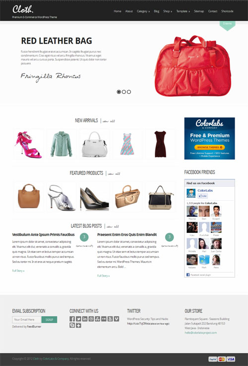 Cloths and Fashion WordPress Ecommerce Theme