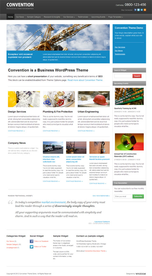 Convention Business WordPress Theme