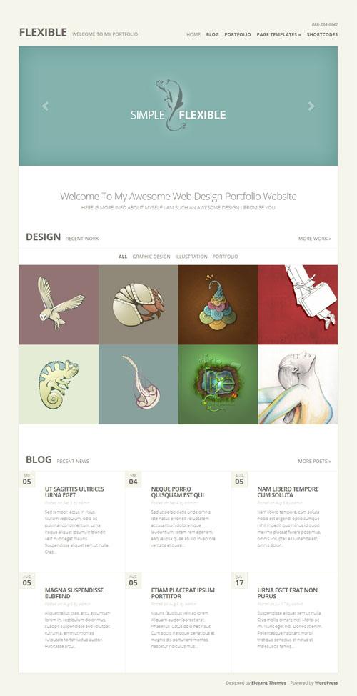 Responsive Minimal Portfolio WordPress Theme
