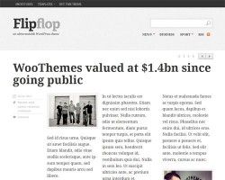 Flipflop – A Responsive News WordPress Theme with Ultra Readable Typography