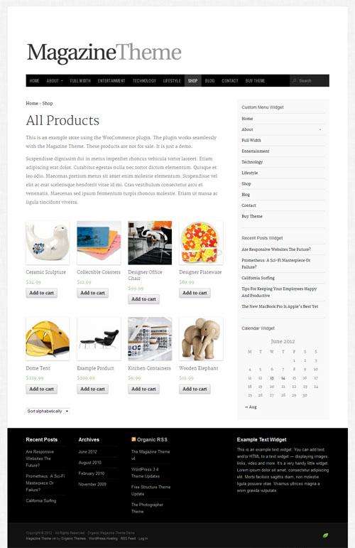 magazine ecommerce theme
