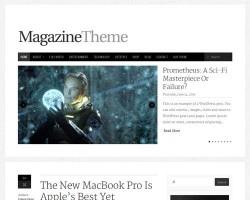 Responsive WordPress Magazine Theme with Ecommerce Integration