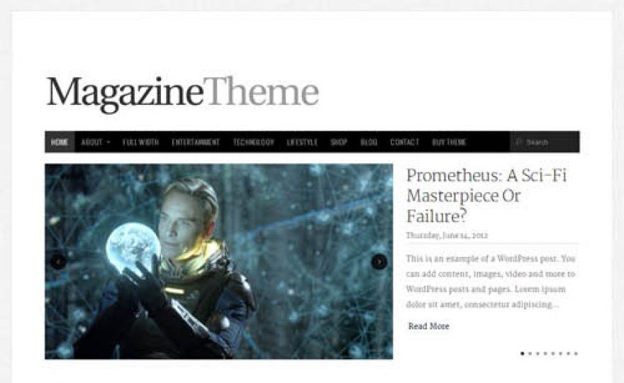 Responsive WordPress Magazine Theme with Ecommerce Integration