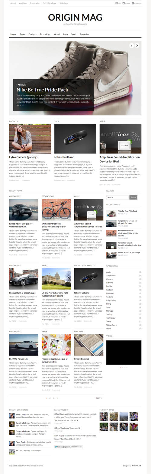 Origin Mag WordPress Theme