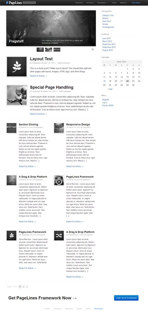 PageLines Theme Framework Blog
