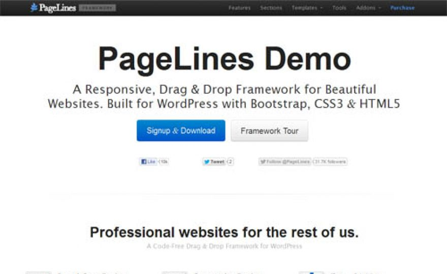 PageLines Theme Framework 2.2 with Twitter Bootstrap, LESS CSS, Shortcodes & More