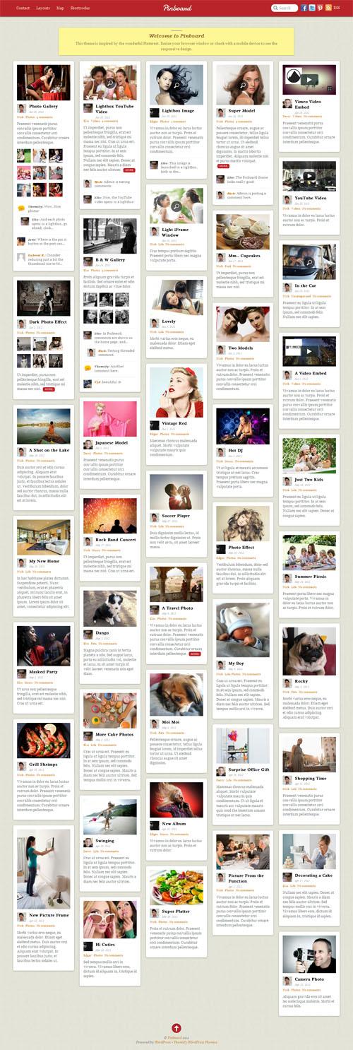 WordPress Pinterest Theme