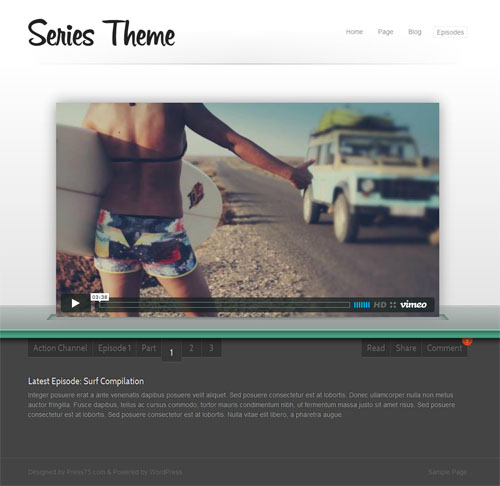 Series Video WordPress Theme