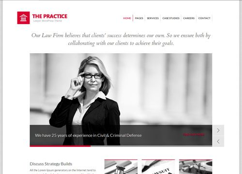 The Practice Legal Firm WordPress Theme