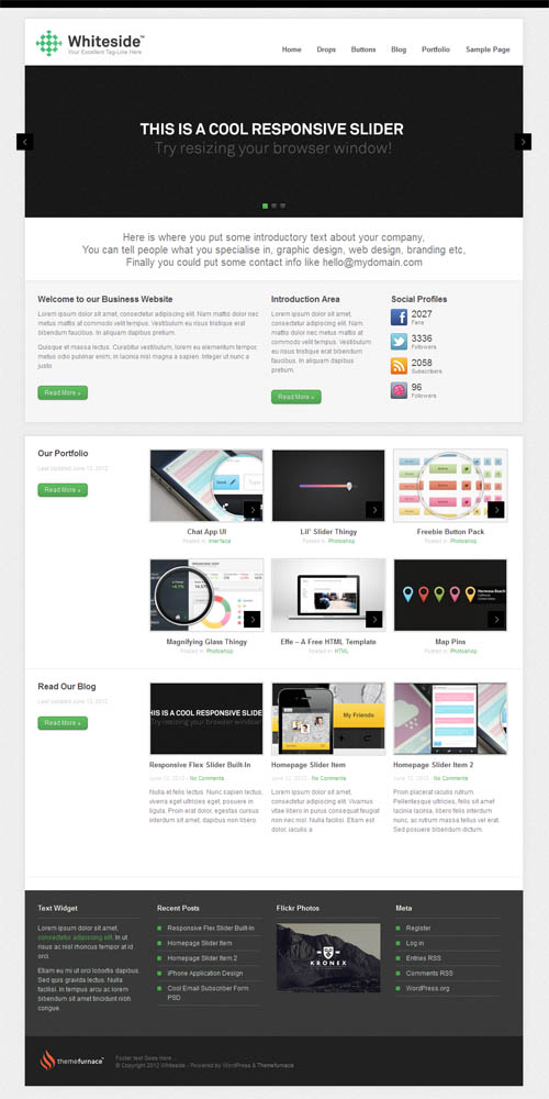 Whiteside WordPress Theme