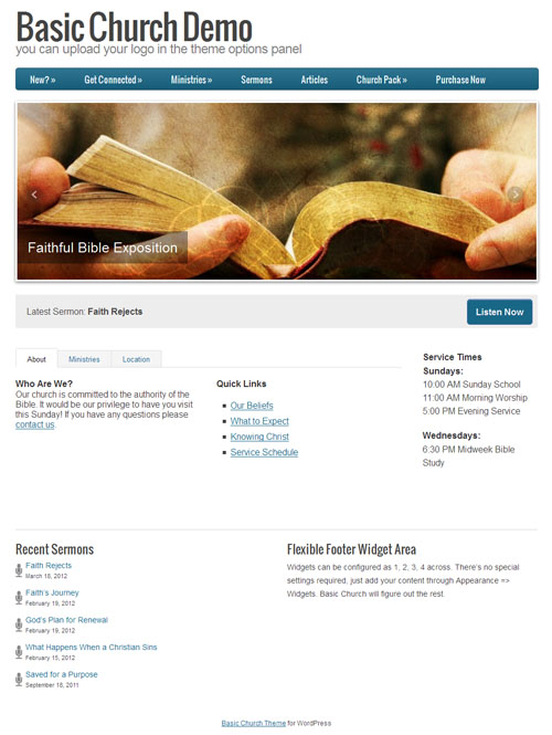 Basic Church WordPress Theme