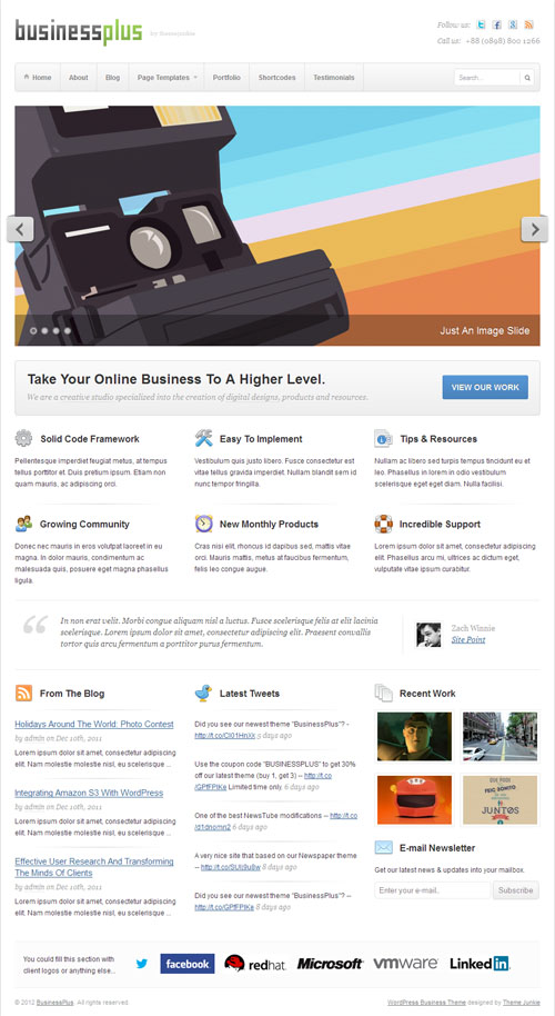 Business Plus Premium WordPress Theme
