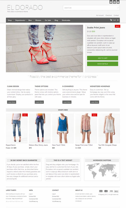 El Dorado Ecommerce WordPress Theme