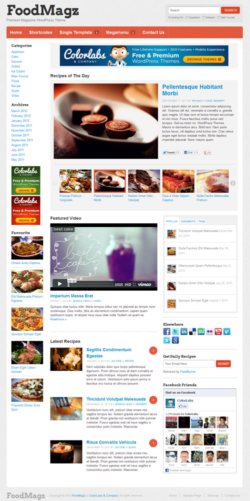 Food Magazine WordPress Theme