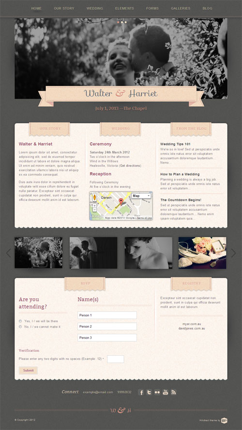Hitched Responsive Wedding WordPress Theme
