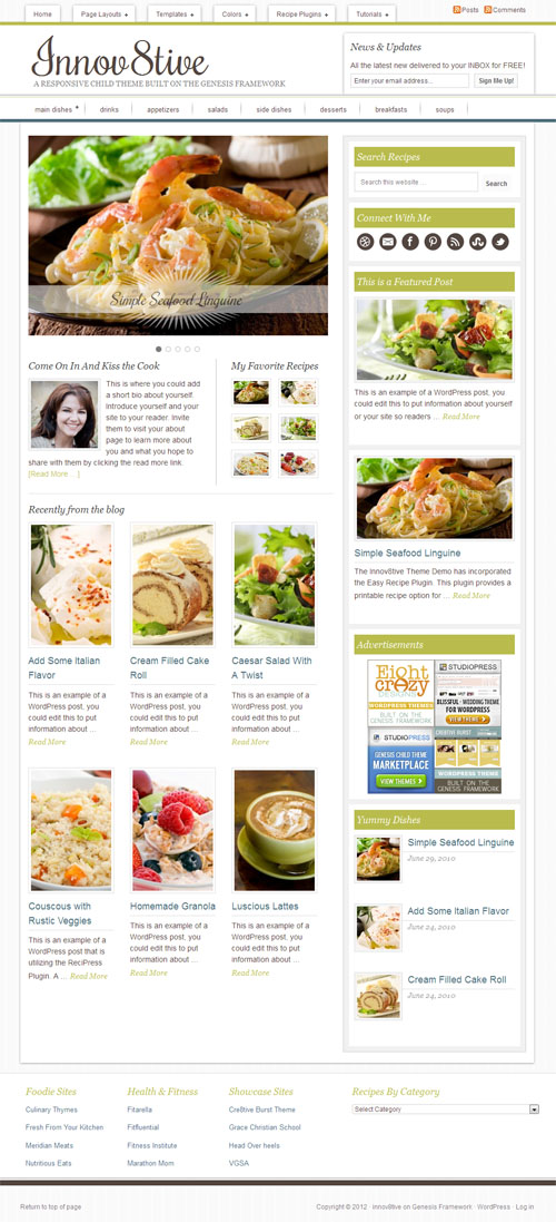 Innov8ive Responsive Magazine WordPress Theme