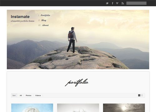 Responsive Photography WordPress Theme with Instragram Integration