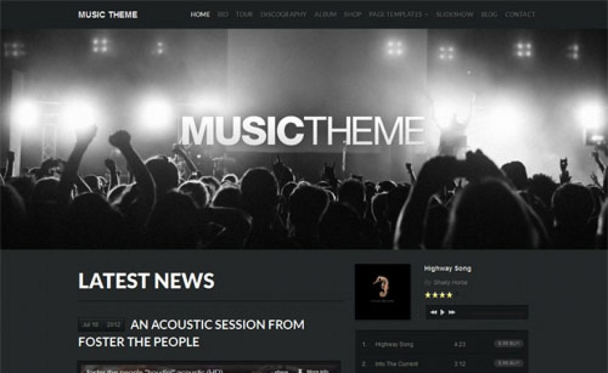 The Best Music WordPress Themes