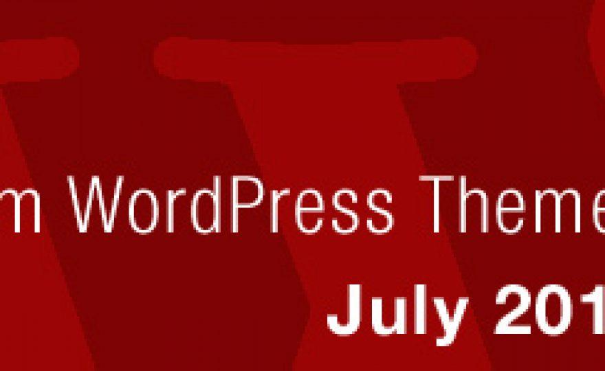 New Premium WordPress Themes July 2012