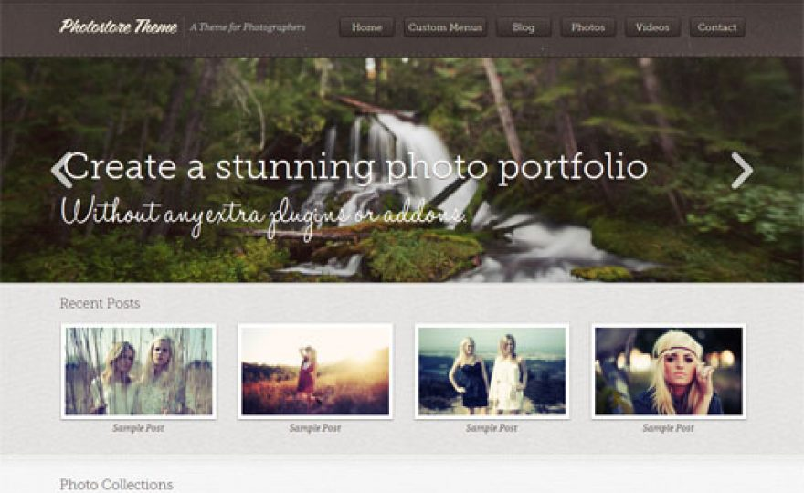 Photostore WordPress Theme for Photographers