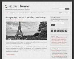 Vintage Looking WordPress Theme