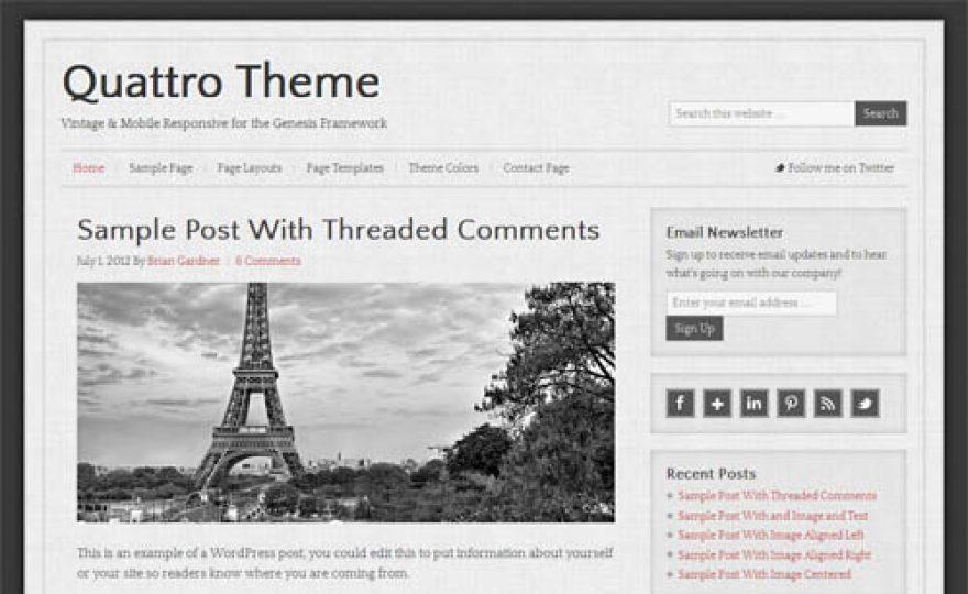 Vintage Looking WordPress Theme