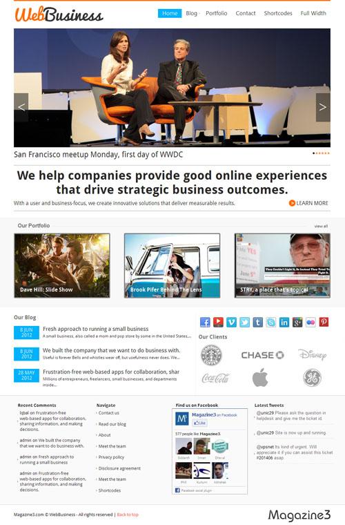 Web Business WordPress Theme