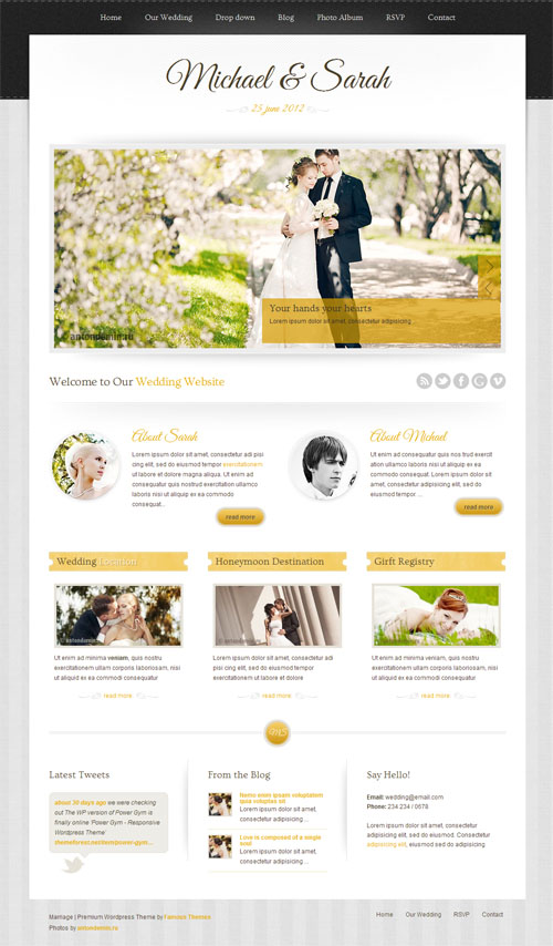 Marriage Responsive WordPress Wedding Theme