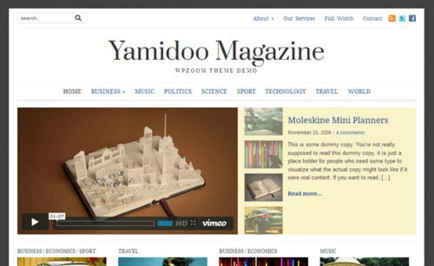 Yamidoo Magazine 2.0 Responsive WordPress Theme