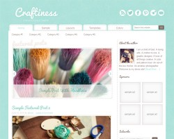 Creative & Craft WordPress Theme Craftiness