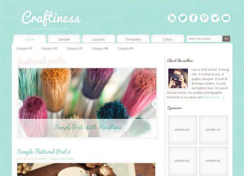 Creative & Craft WordPress Theme Craftiness